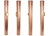 Kupfer-Standrohr mit Reinigung, Länge 1,00m